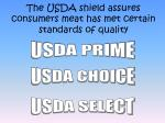 the usda shield assures consumers meat has met certain standards of quality