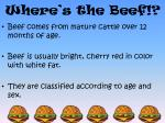 where s the beef