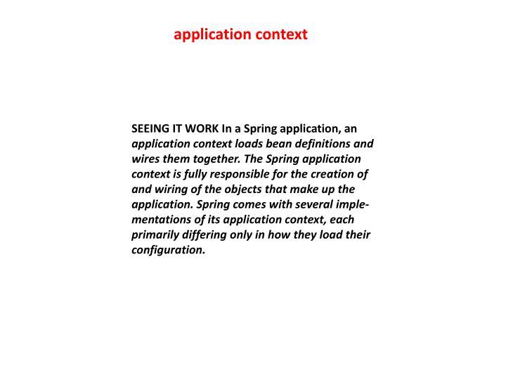 application context