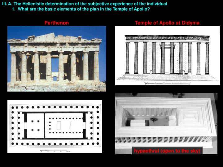 III. A. The Hellenistic determination of the subjective experience of the individual