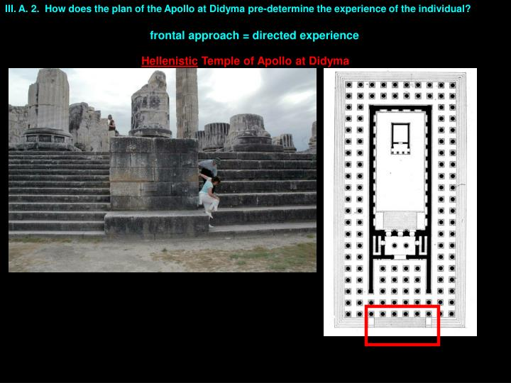 III. A. 2.  How does the plan of the Apollo at