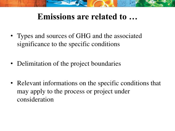 Emissions are related to …