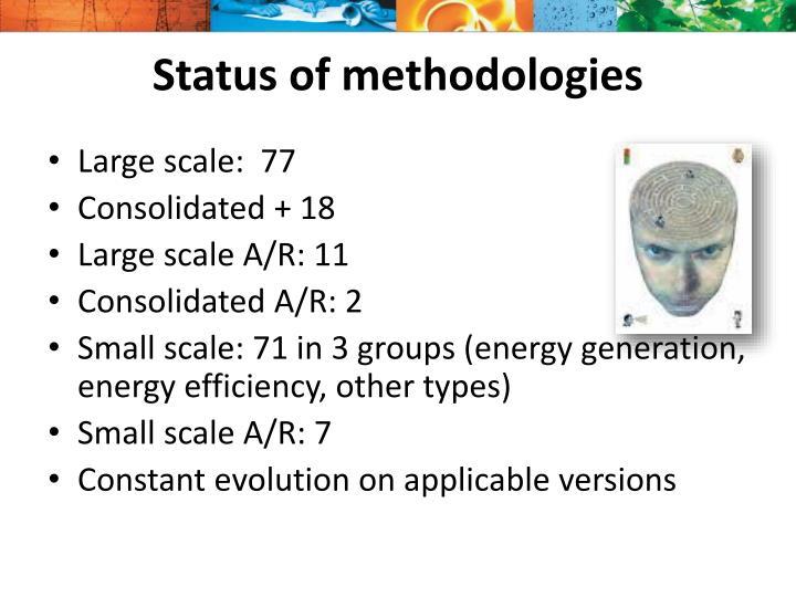 Status of methodologies