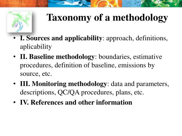 Taxonomy of a methodology