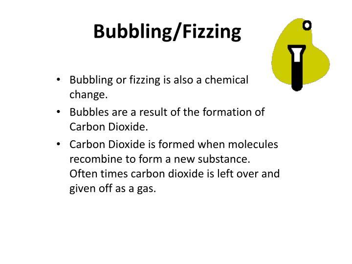 Bubbling/Fizzing