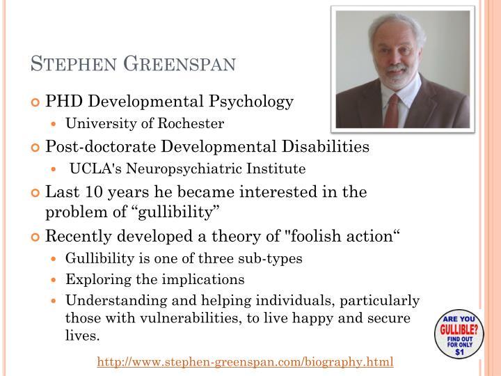 Stephen Greenspan