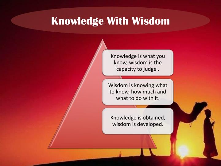 Knowledge With Wisdom