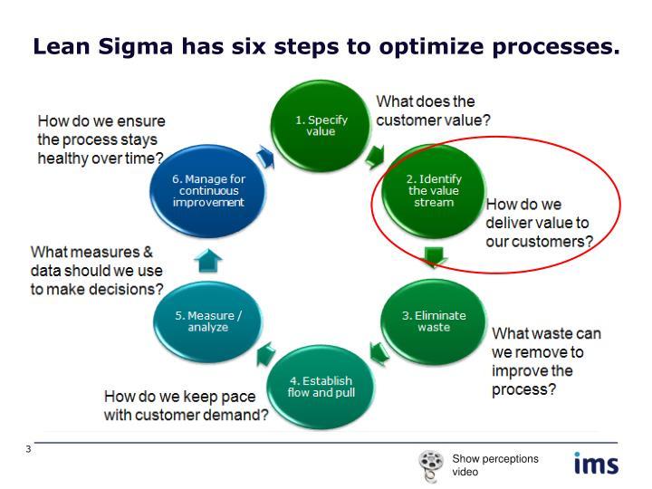 Lean Sigma has six steps to optimize processes.