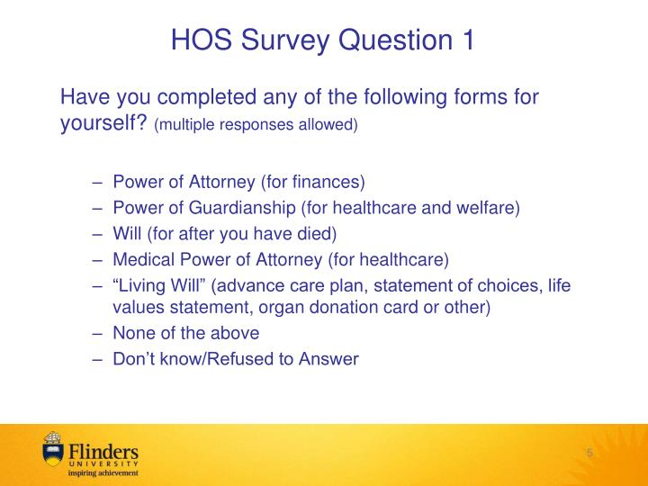 HOS Survey Question 1