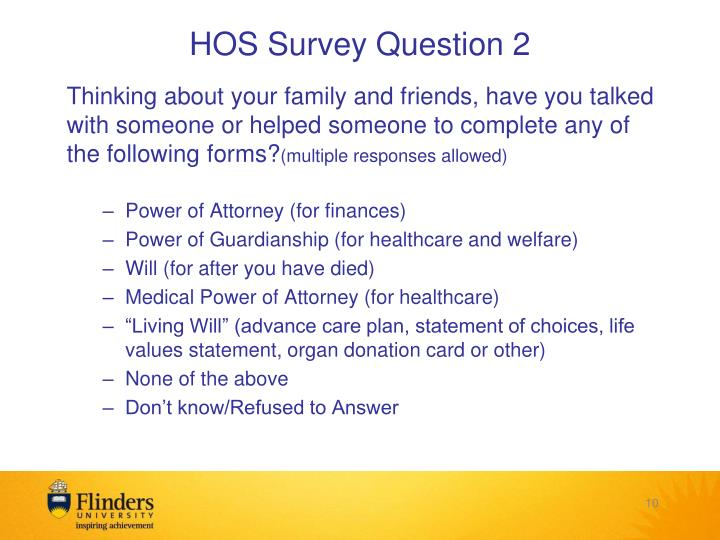 HOS Survey Question 2