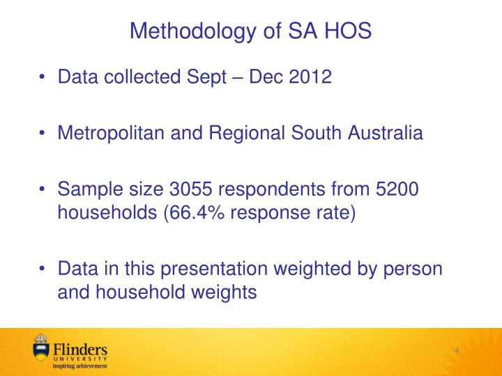 Methodology of SA HOS
