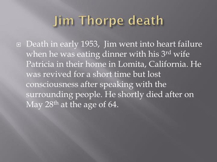 Jim Thorpe death