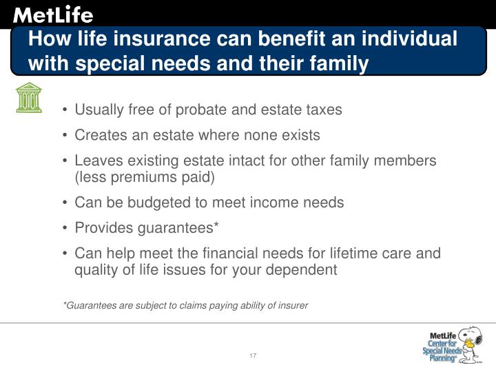 How life insurance can benefit an individual with special needs and their family