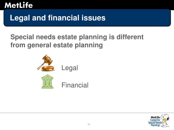 Legal and financial issues