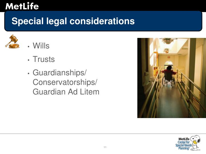 Special legal considerations