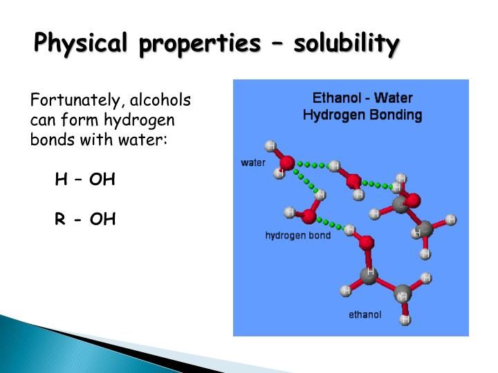 Physical properties – solubility