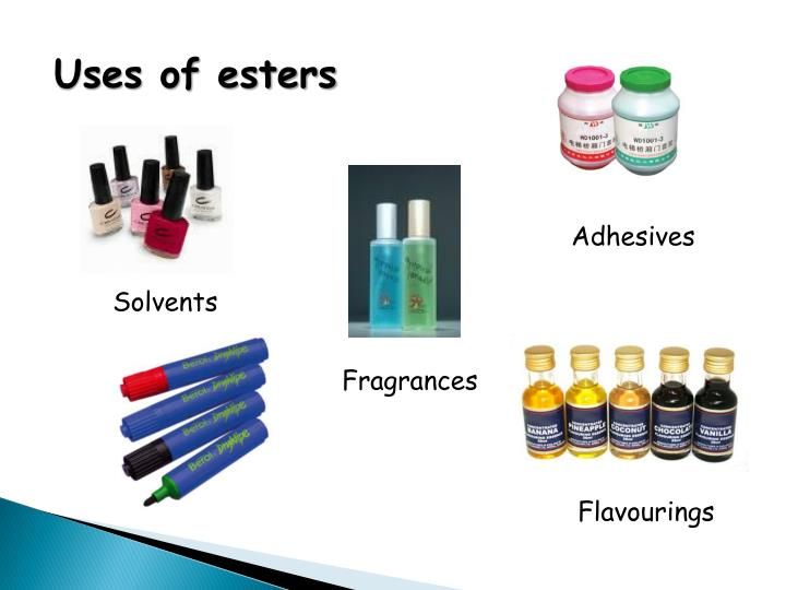 Uses of esters