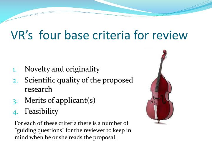 vr s four base criteria for review