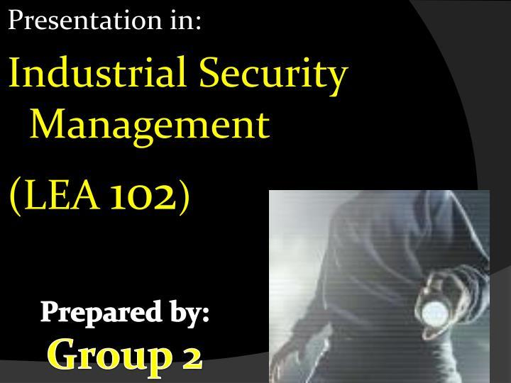 Presentation in: