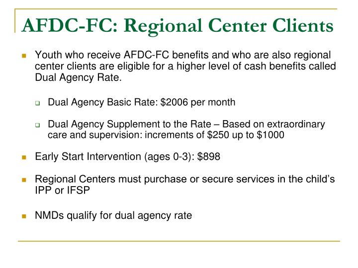 AFDC-FC: Regional Center Clients