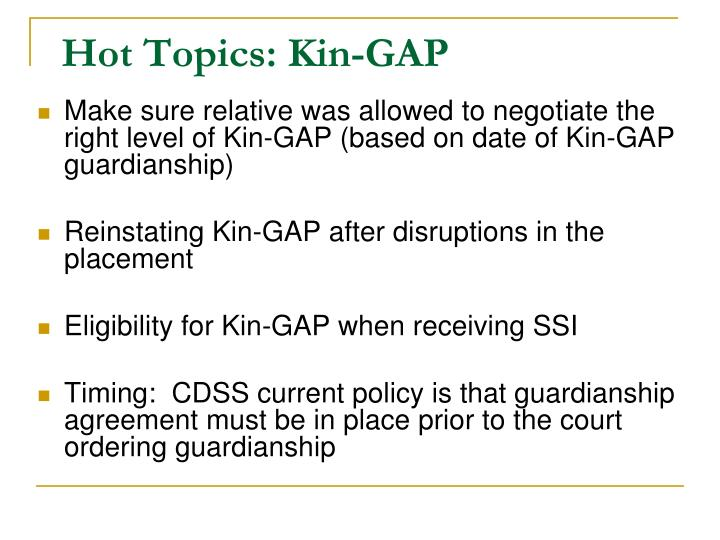 Hot Topics: Kin-GAP