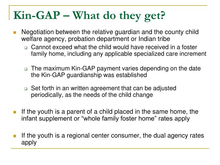 Kin-GAP – What do they get?