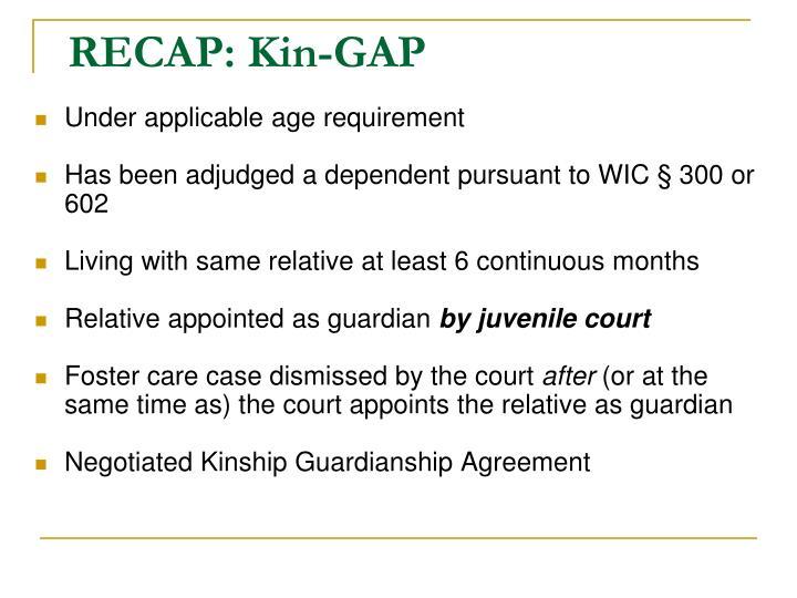 RECAP: Kin-GAP