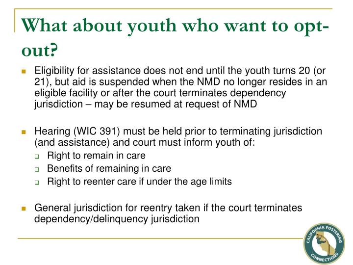 What about youth who want to opt-out?