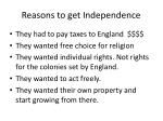 reasons to get independence