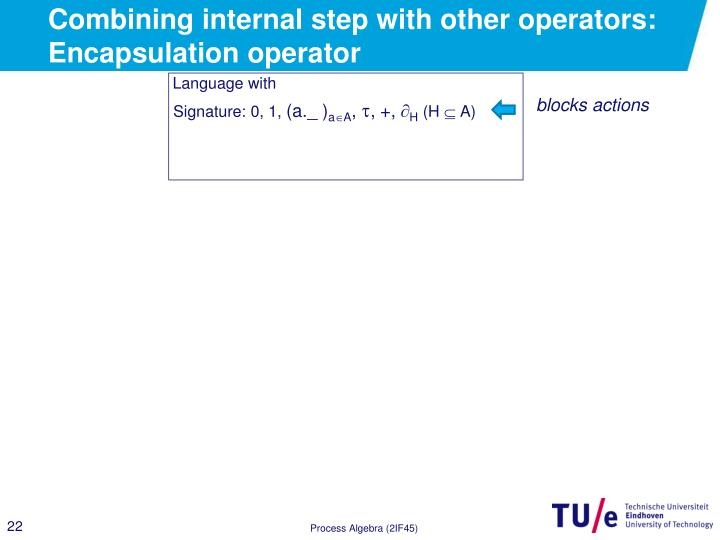 Combining internal step with other operators: