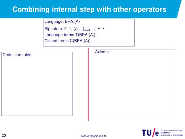 Combining internal step with other operators