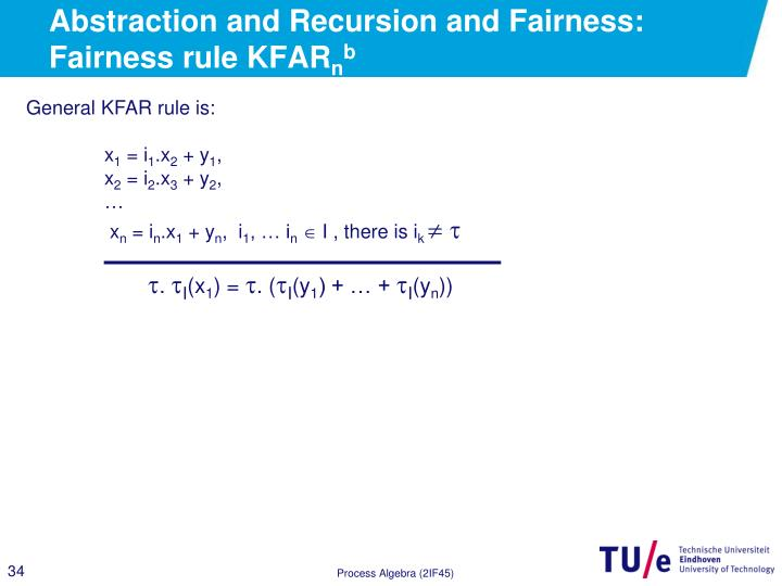 Abstraction and Recursion and Fairness: Fairness rule