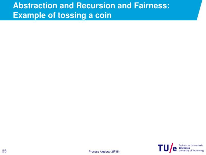 Abstraction and Recursion and Fairness: