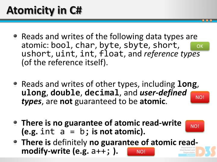 Atomicity in C#