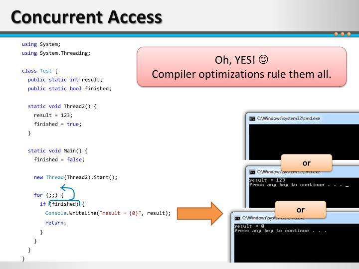 Concurrent Access