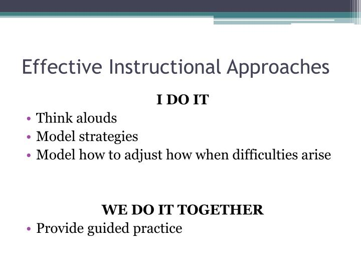 Effective Instructional Approaches