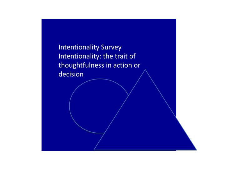 Intentionality Survey