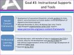 goal 3 instructional supports and tools