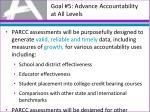 goal 5 advance accountability at all levels