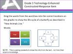 grade 3 technology enhanced constructed response item