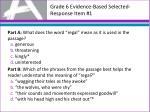 grade 6 evidence based selected response item 1