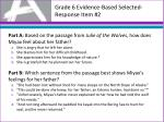 grade 6 evidence based selected response item 2