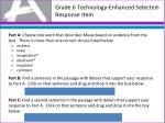 grade 6 technology enhanced selected response item