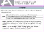 grade 7 technology enhanced constructed response item