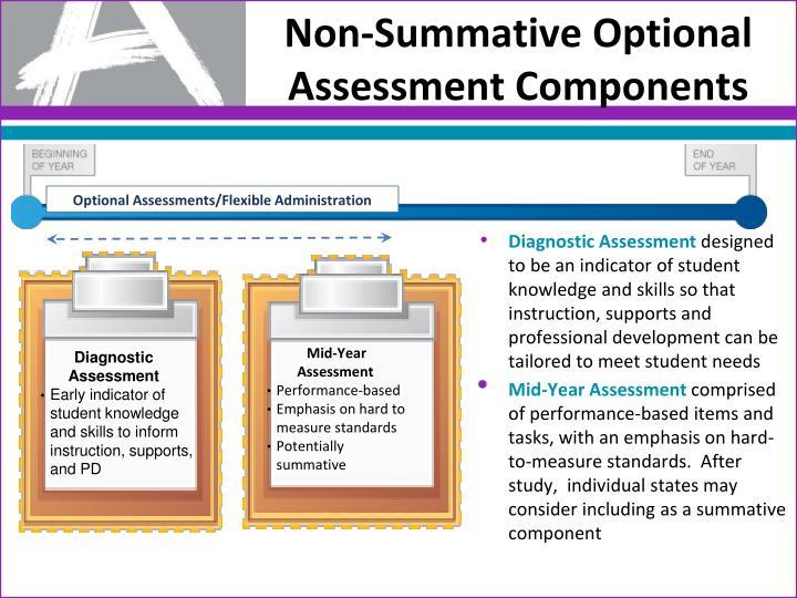 Non-Summative Optional Assessment Components