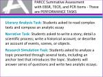parcc summative assessment with ebsr tecr and pcr items these are performance tasks