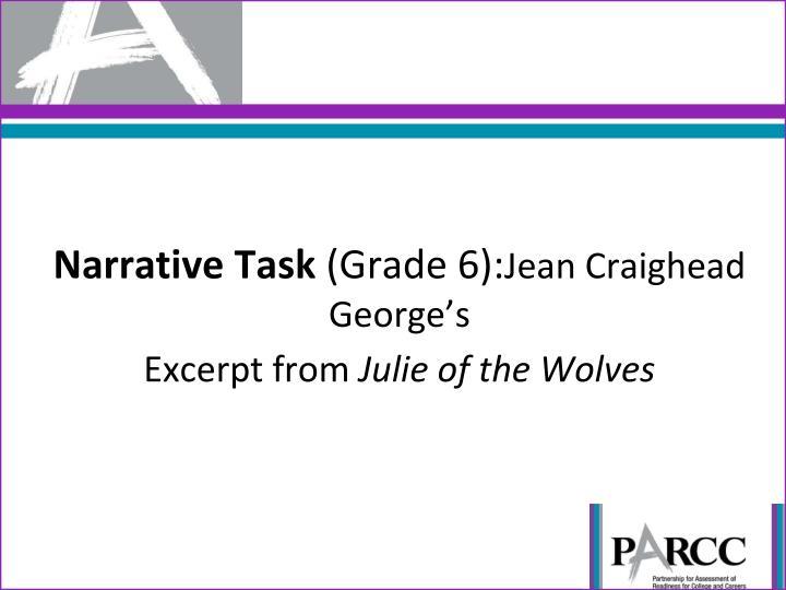 Narrative Task