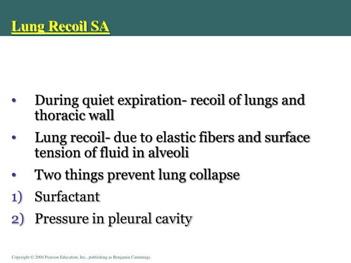 Lung Recoil SA