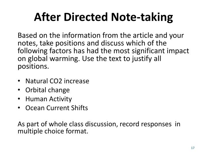 After Directed Note-taking