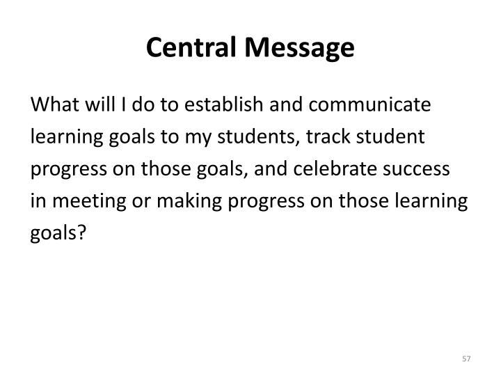 Central Message